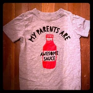 My parents are awesome sauce 2t shirt
